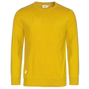 WeSC Anwar Knitted Sweatshirt - Nugget Gold