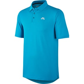 Nike SB Dri-Fit Pique Polo Shirt - Omega Bue/White