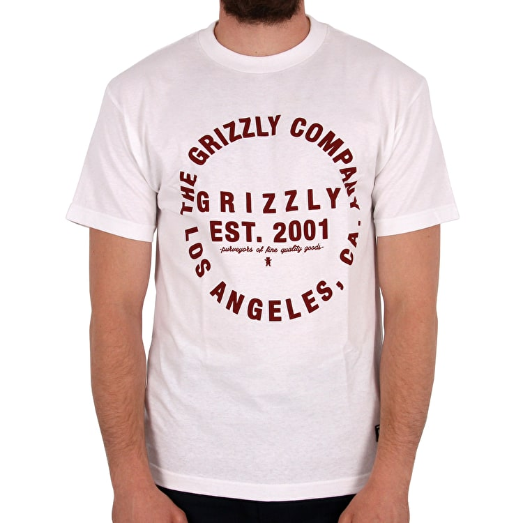 Grizzly Long Distance T-Shirt - White
