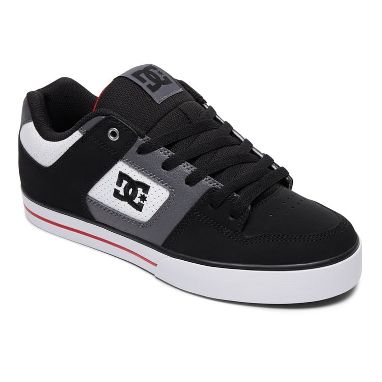 DC Pure Skate Shoes - White/Black/Red