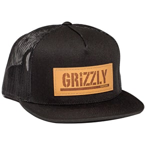 Grizzly Trademark Trucker Cap - Black