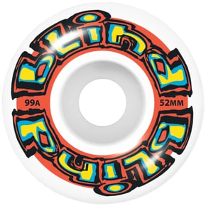 Blind OG Stretch Skateboard Wheels - White/Red 52mm