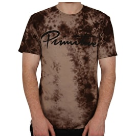 Primitive Nuevo Script Wash T Shirt - Khaki Wash