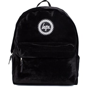 Hype Velour Backpack - Black
