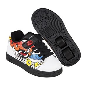 Heelys X2 Dual Up - White/Black/Multi Comic
