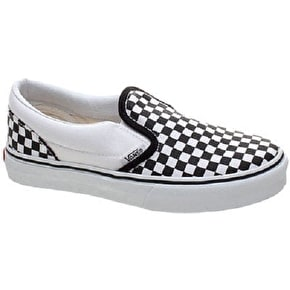 Vans Classic Slip On Toddler Shoes - Black/White/Small Checkerboard