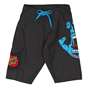 Santa Cruz Screaming Hand Board Shorts - Black