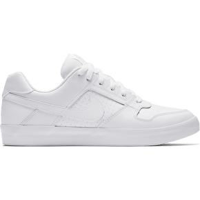 Nike SB Delta Force Vulc Skate Shoes - White/White