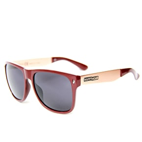 Happy Hour Romar Bermuda Sunglasses - Burgundy/Gold