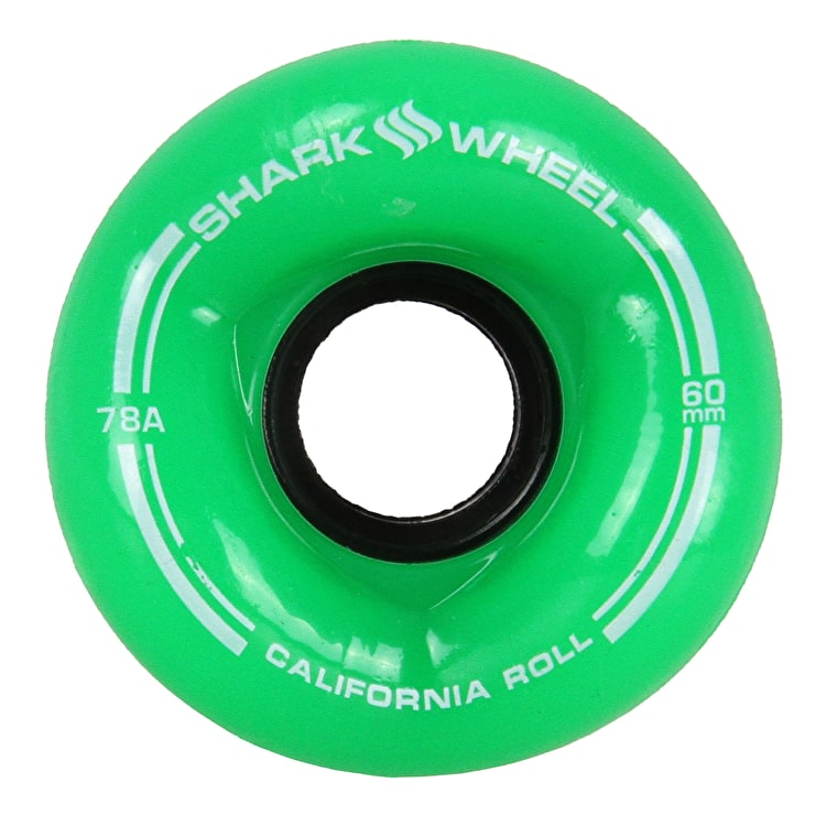 Shark Wheel California Roll 60mm 78A Longboard Wheels - Clear Green