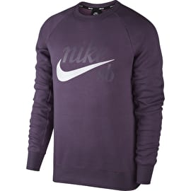 Nike SB Icon Crew Neck - Pro Purple/White