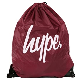 Hype Drawstring Gym Bag - Burgundy/White