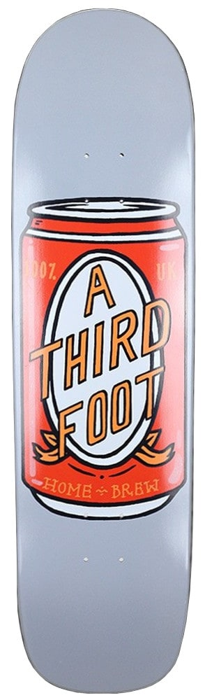 Image of A Third Foot Beer Can Jim The Skin Skateboard Deck - 8.5""