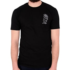 National Skateboard Co Love T shirt - Black