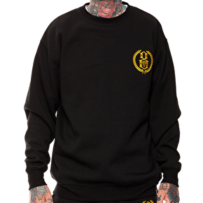 Rebel8 Laurels Embroidered Crewneck - Black