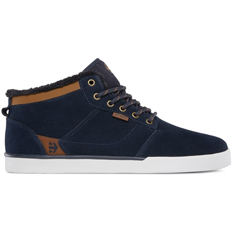 Etnies Jefferson Mid Skate Shoes - Navy/Brown/White