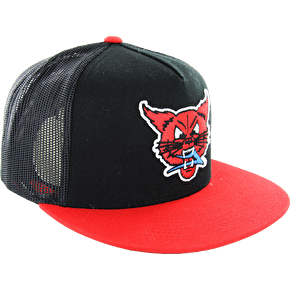 Lakai Lynx Snapback Cap - Black/Red