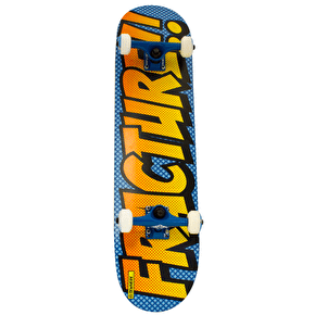 Fracture Comic 3 Skateboard - Blue/Orange 7.75