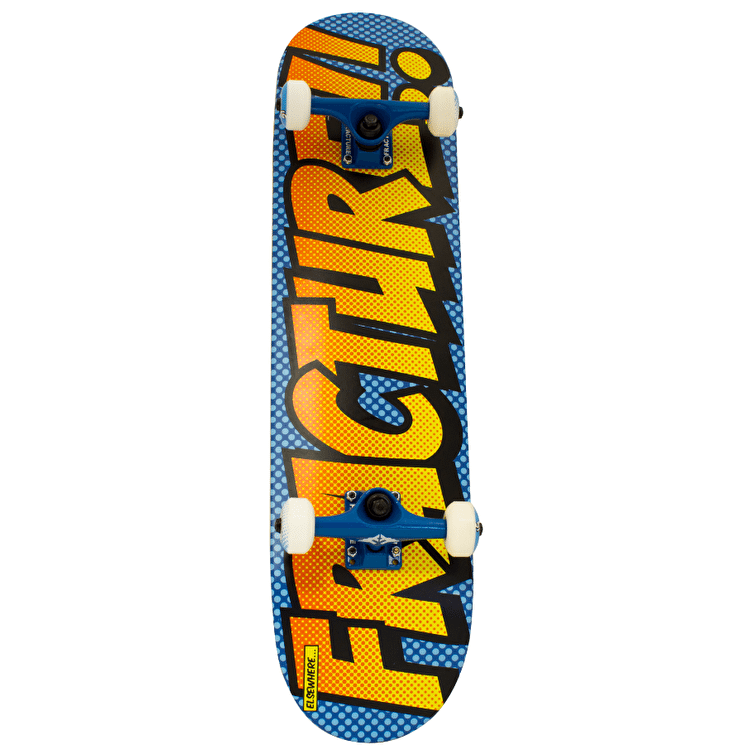 Fracture Comic 3 Skateboard - Blue/Orange 7.75""