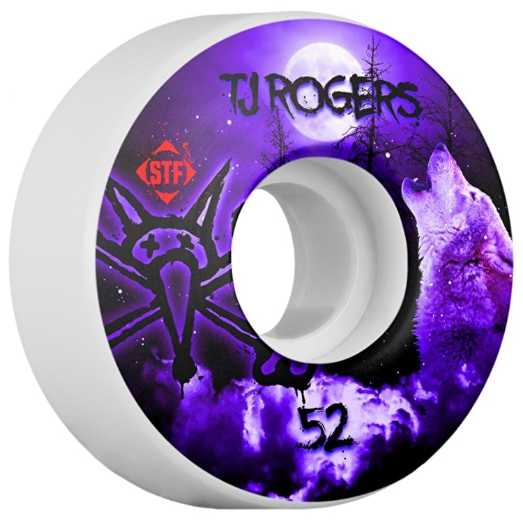 Bones STF V3 Rogers Howl Skateboard Wheels - 52mm (Pack of 4)