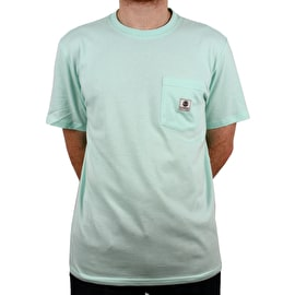 Element Basic Pocket Label  T Shirt - Brook Green