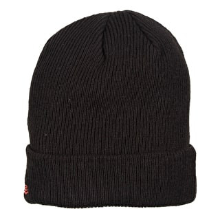 New Era Flag Pop Cuff Beanie - Black/Lava Red