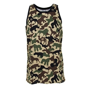 Organika Motif Tank Top - Khaki Animal Camo