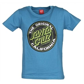 Santa Cruz Cali Dot Colour Kids T-Shirt - Blue