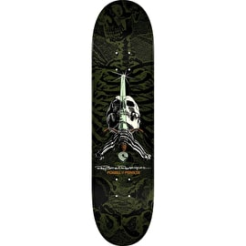 Powell Peralta Ray Rodriguez Skull & Sword Skateboard Deck - Green 9.0