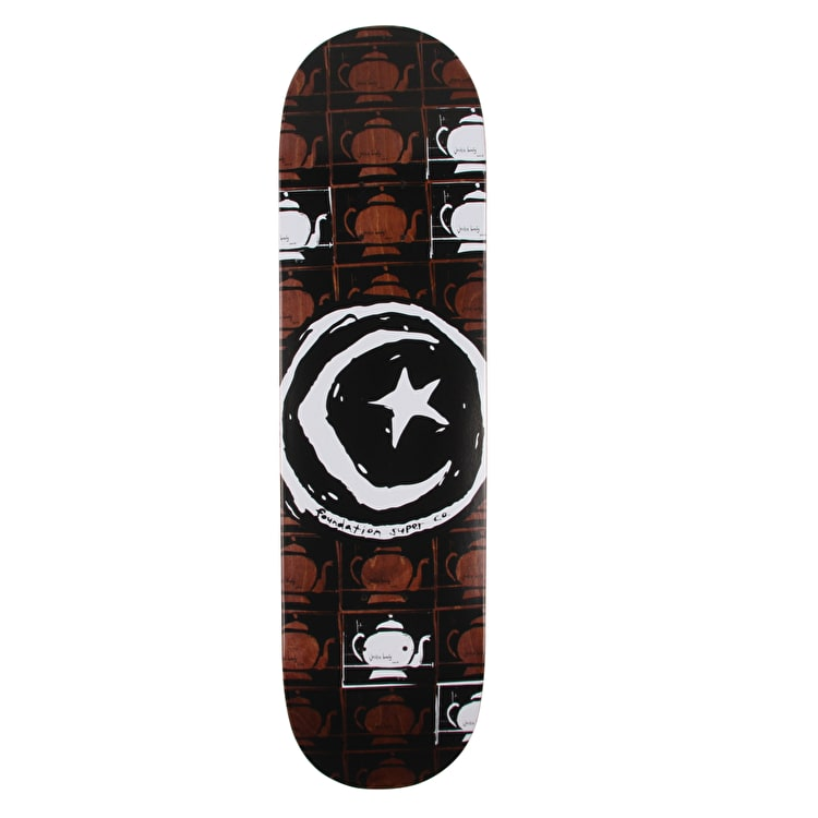 Foundation Star & Moon Teapot Repeat Skateboard Deck - 8.25""