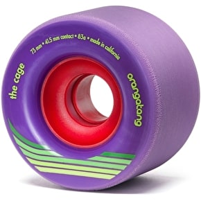 Orangatang Cage 73mm Longboard Wheels - Purple (Pack of 4)