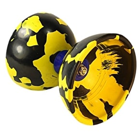 Juggle Dream Jester Diabolo Starter Pack - Black/Yellow