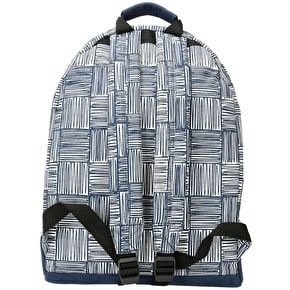 Mi-Pac Scribble Check Backpack - Navy