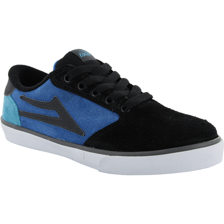 Lakai Pico Youth Skate Shoes - Black/Blue Suede
