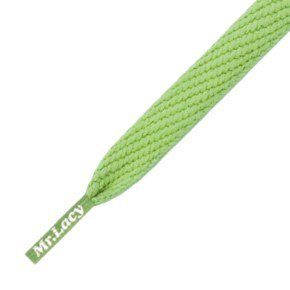 Mr Lacy Shoelaces - Flatties Apple Green