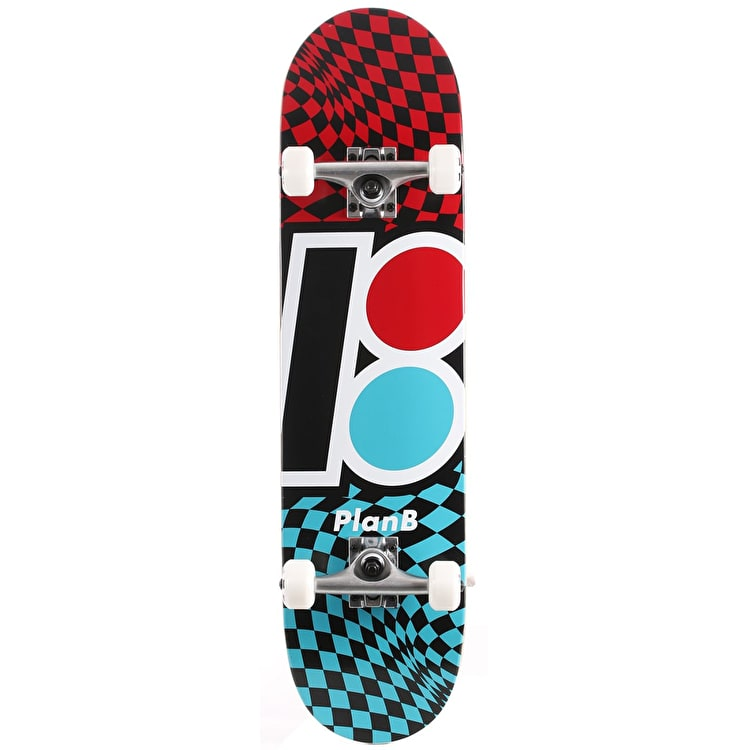 Plan B Team Checker Complete Skateboard - 7.875""