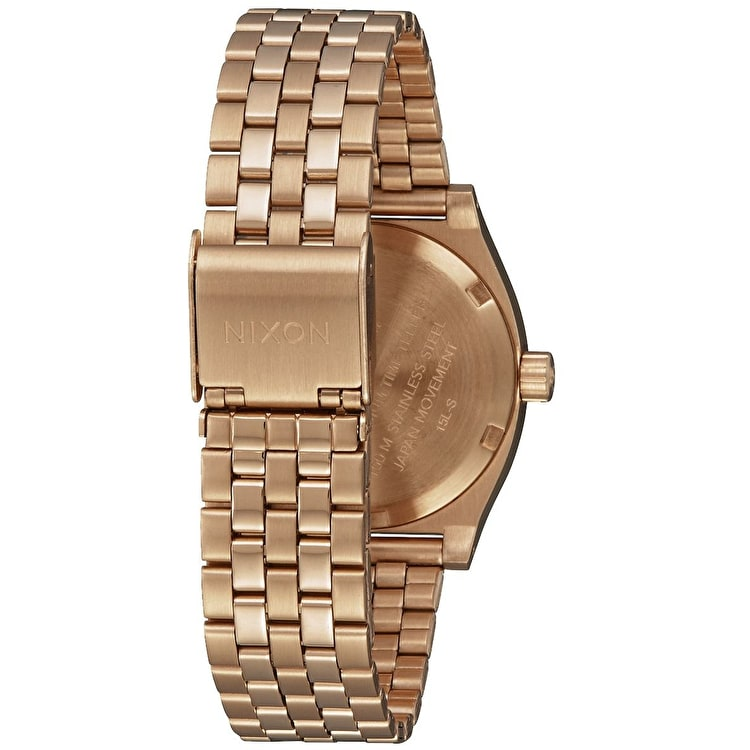 Nixon Medium Time Teller Womens Watch - All Rose Gold