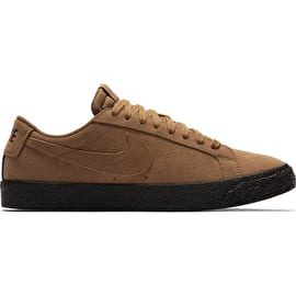 Nike SB Zoom Blazer Low Skate Shoes - Light British Tan/Black