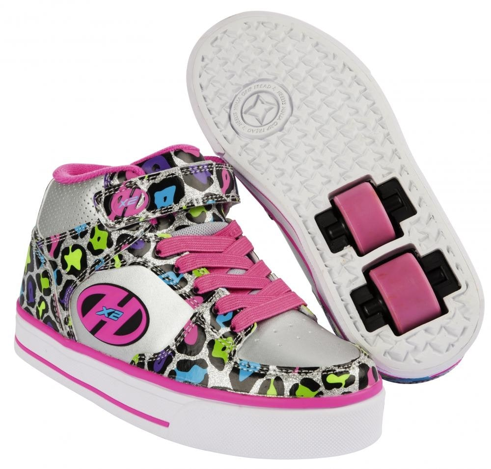 heelys x2 cruz silver multi leopard heelys shoes. Black Bedroom Furniture Sets. Home Design Ideas