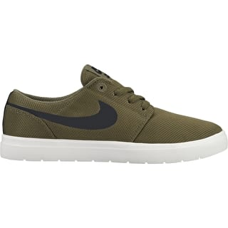 Nike SB Portmore II Ultralight Kids Skate Shoes - Medium Olive/Black