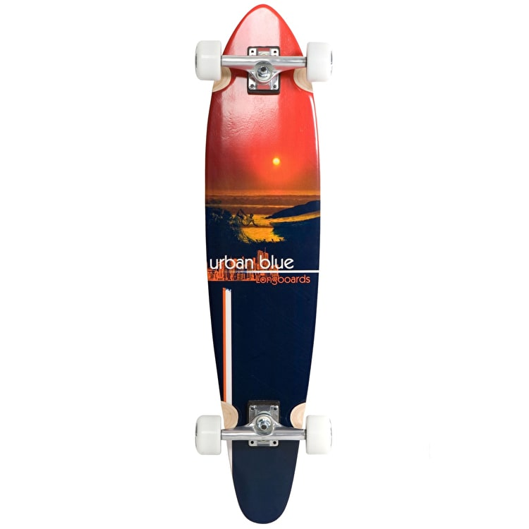 "Urban Blue Urban Sunset A3 38"" Kicktail Longboard"