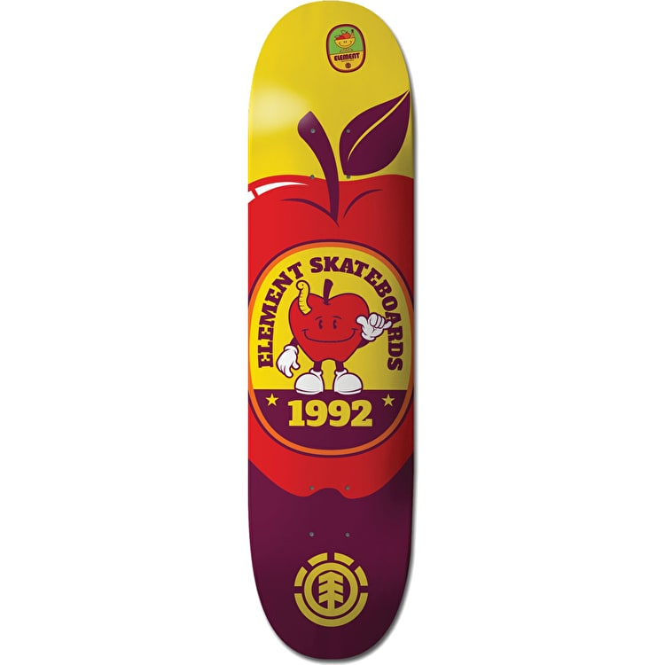 Element You Are What You Eat Skateboard Deck - Apple 7.75""