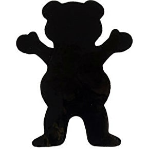 Grizzly Big Bear Sticker - Black