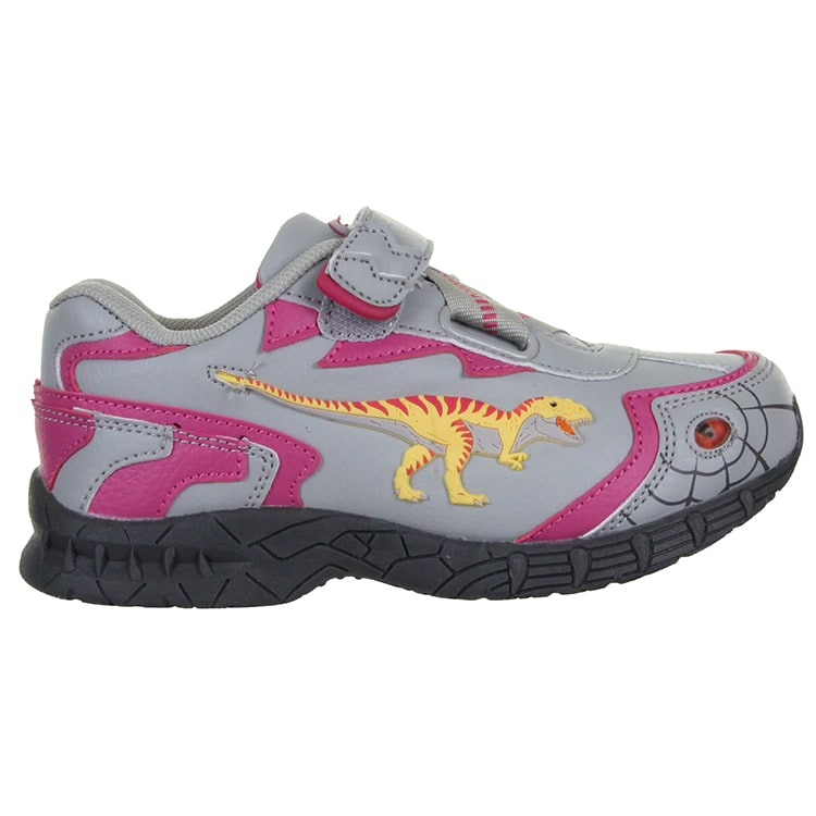 B-Stock Dinosoles Dinofit Kids Shoes - T-Rex Pink Junior 11 (Faulty Lights)