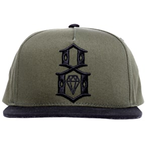 Rebel8 Army Logo Snapback Cap - Army