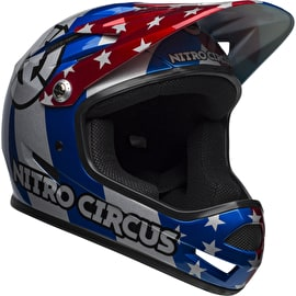 Bell Sanction 2019 Helmet - Nitro Circus Gloss Silver/Blue/Red