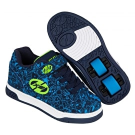 Heelys X2 Dual Up - Navy/Blue/Print