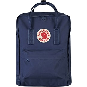 Fjallraven Kanken Backpack - Royal Blue/Pinstripe Pattern