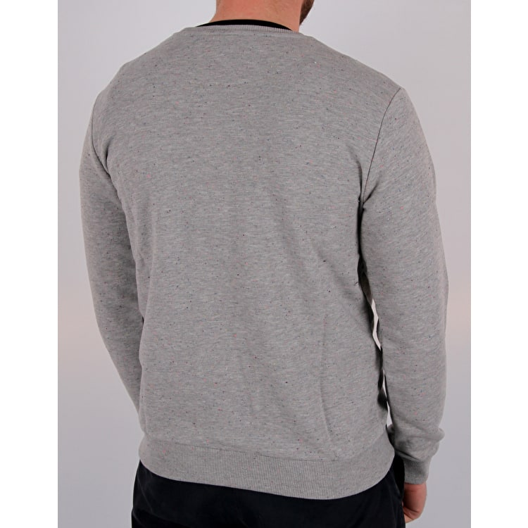 Hype Flec Crest Crew Neck - Grey/Blue