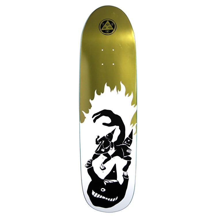 Welcome Creepers On Atheme Skateboard Deck - White/Gold Foil 8.8""